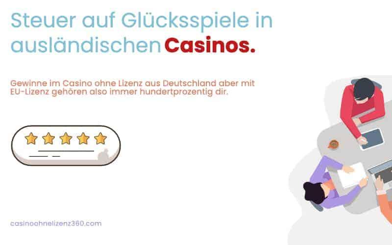 Steuer auf Glücksspiele in ausländischen Casinos